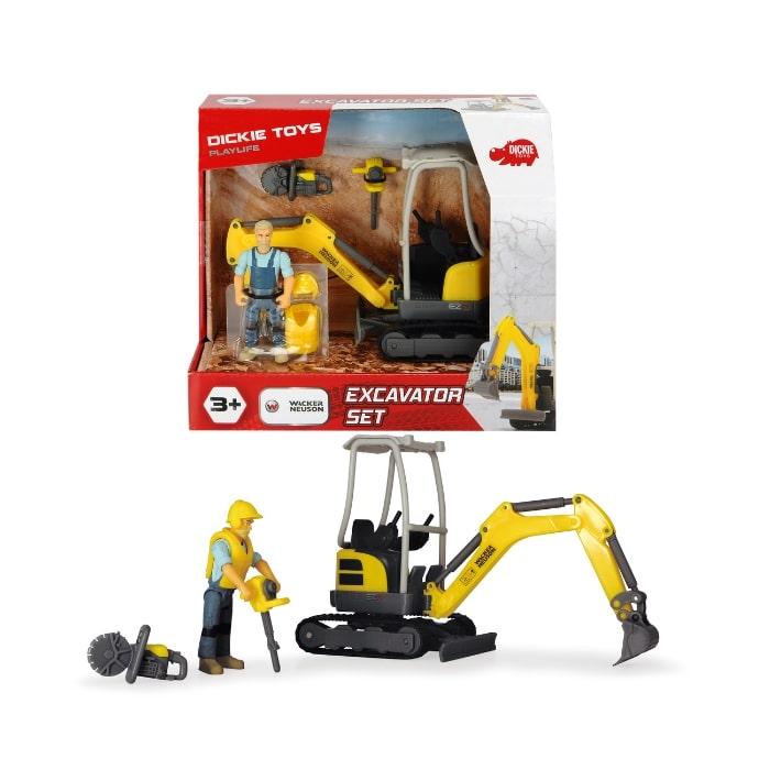 203832005 Bộ Đồ Chơi Xe Xây Dựng DICKIE TOYS Playlife-Excavator Set
