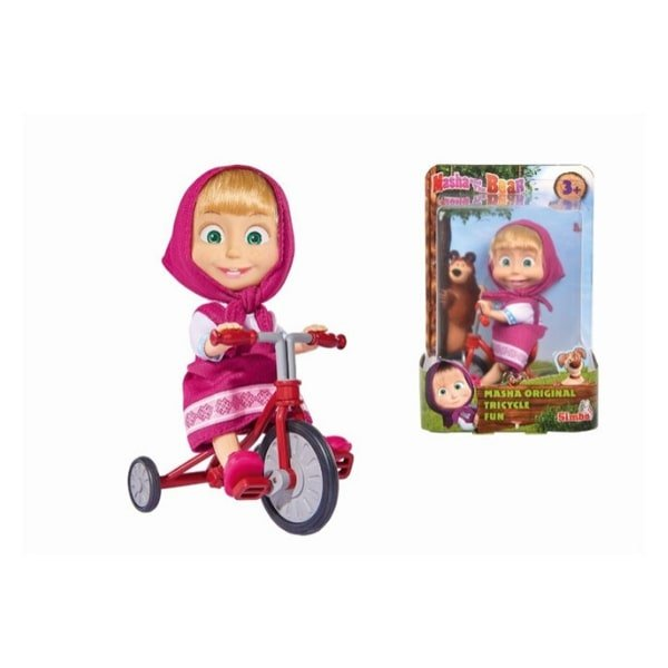 109302059 Đồ Chơi Búp Bê MASHA AND THE BEAR Masha Original Tricycle Fun