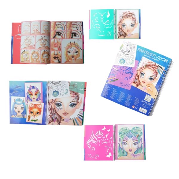 BST thiết kế thời trang Create Your Fantasy Face sticker Book TM10440