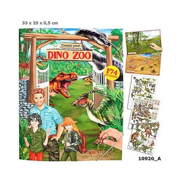 TM410920 sách dán sticker chủ đề khủng long Dino Zoo