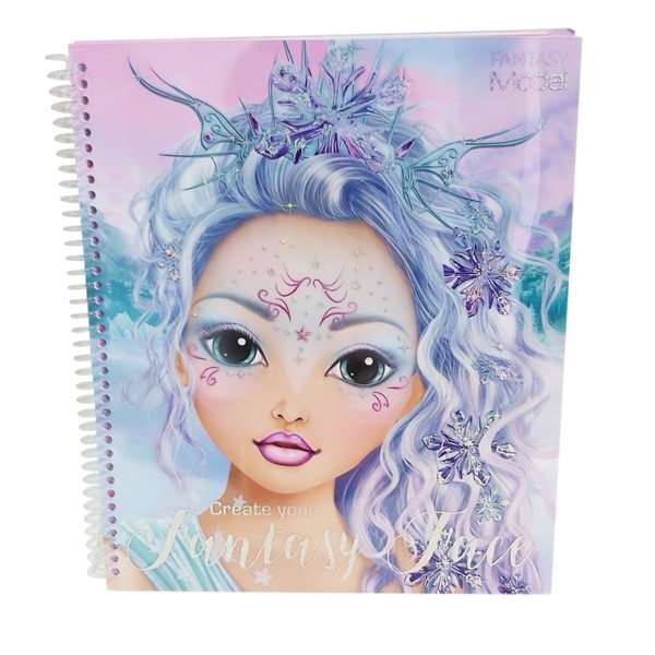TM411240 BST thiết kế Create Your Fantasy Face Colouring Book Topmodel