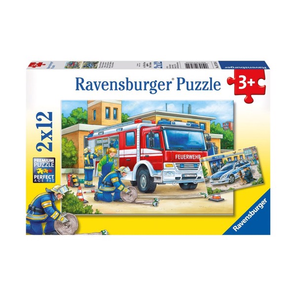 RV075744 Xếp hình puzzle Police and Firefighters 12 mảnh RAVENSBURGER
