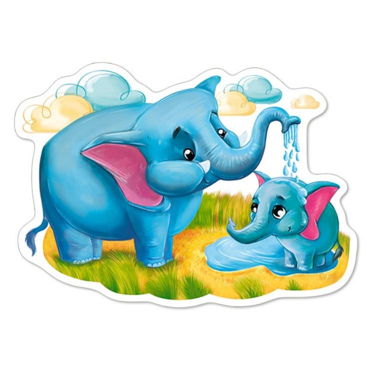 B0044542 Xếp hình puzzle Animals of Africa 4 bộ 4/5/6/7 mảnh CASTORLAND