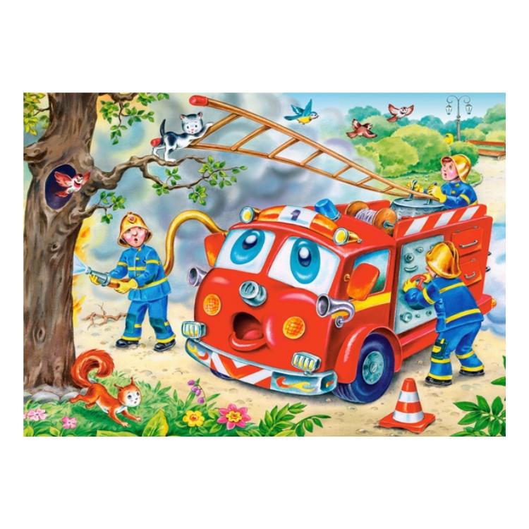 B0043242 Xếp hình puzzle Funny Vehicles 4 bộ 8/12/15/20 mảnh CASTORLAND