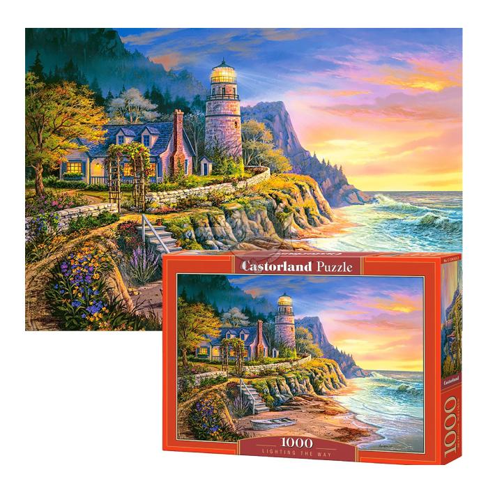 C104161 Xếp hình puzzle Lighting the Way 1000 mảnh Castroland