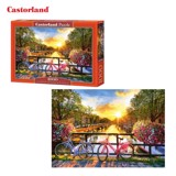 C104536 Xếp hình puzzle Picturesque Amsterdam with Bicycles 1000 mảnh Castroland