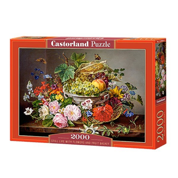 C2006582 xếp hình puzzle Still Life with Flowers and Fruit Basket Castorland