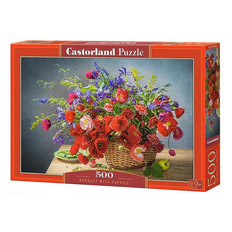 B0053506 Xếp hình puzzle Bouquet with Poppies 500 mảnh CASTORLAND