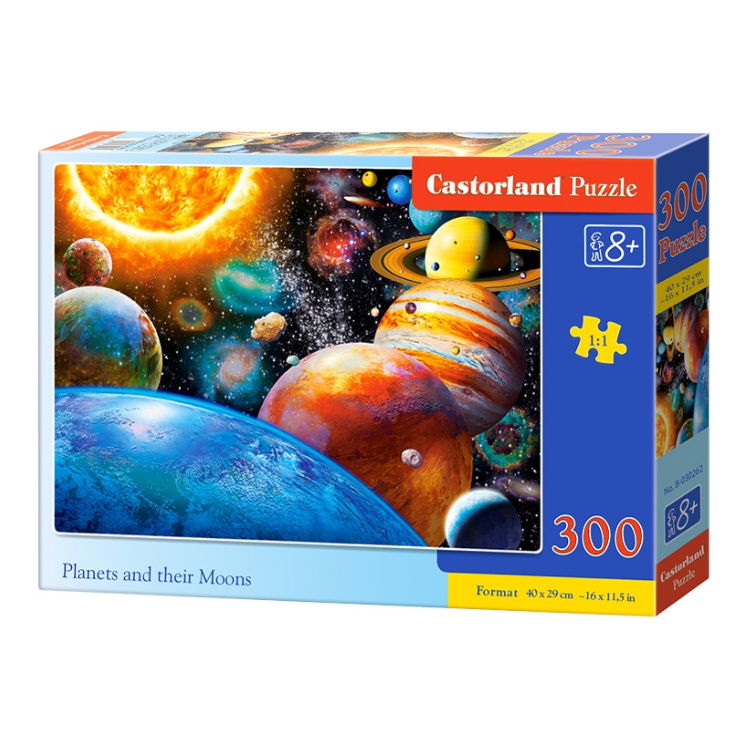 B0030262 Xếp hình puzzle Planets and their Moons Puzzle 300 mảnh CASTORLAND