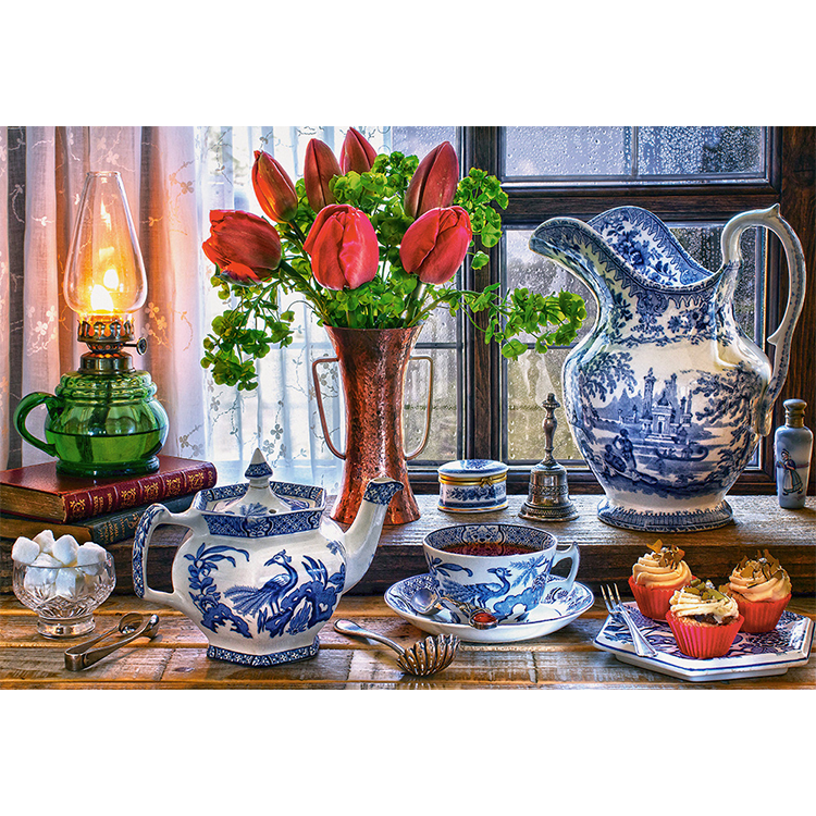 C1518202 Xếp hình puzzle Still Life with Tulips 1500 mảnh CASTORLAND
