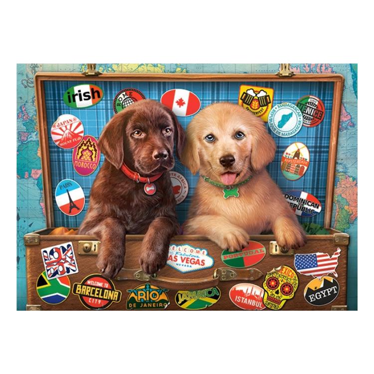 B0030422 Xếp hình puzzle Stowaway Pups Puzzle 300 mảnh CASTORLAND