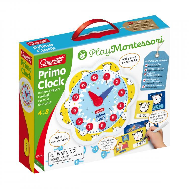 Đồng hồ vui học thời gian cho bé Quercetti - Montessori 0624