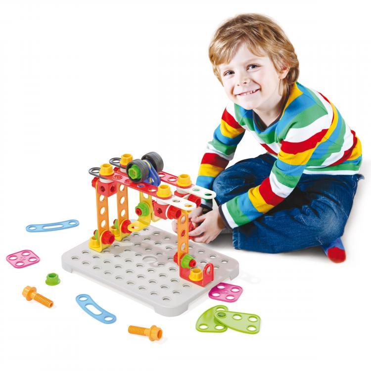 Đồ chơi Hộp dụng cụ Lắp ráp kỹ thuật Jumbo QUERCETTI 6150