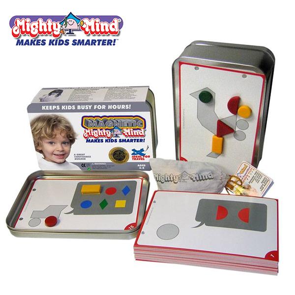 Ghép hình luyện IQ trẻ 3-8 tuổi (level1, có nam châm) Mighty mind MM40102