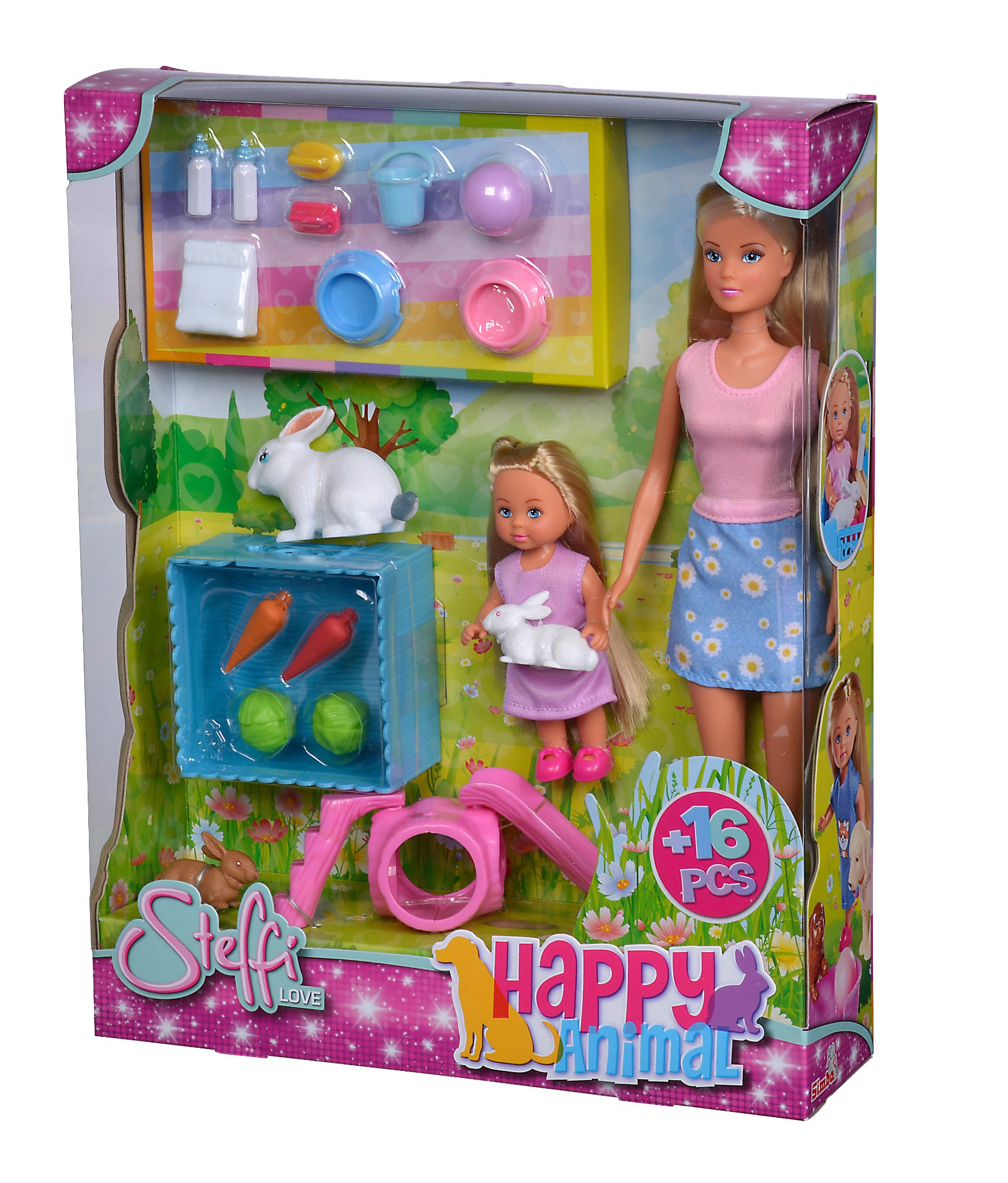 105732156 Búp bê Steffi Love Happy Animal, 2-ass.