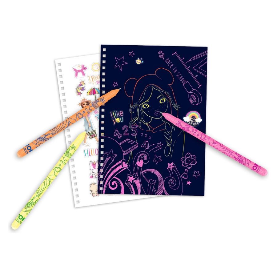 BST thiết kế thời trang TOPModel Neon Doddle Book with neo pen set TM10273