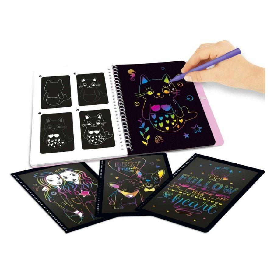 BST thiết kế thời trang TOPModel Magic-Scratch sticker Book TM10707
