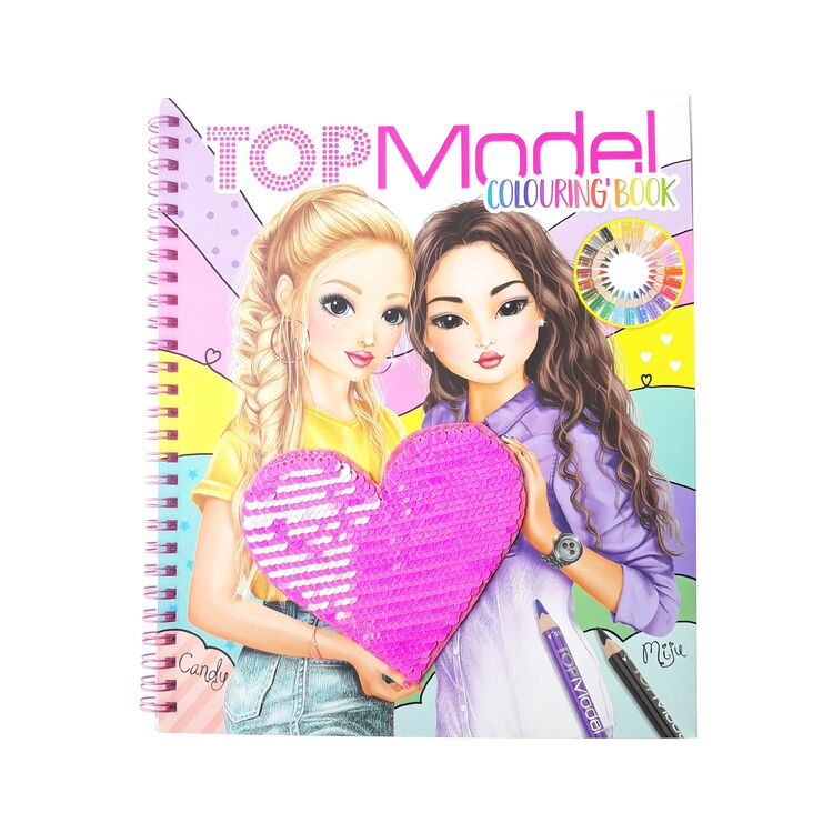 BST thiết kế thời trang TOPModel sticker Book with Sequins TM10744