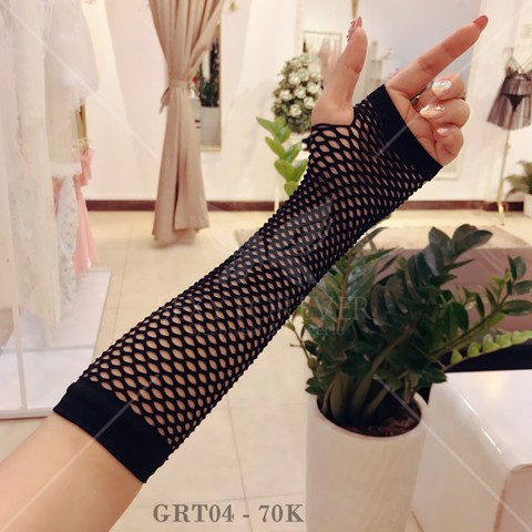 MESH GLOVES BLACK