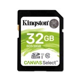 Thẻ nhớ SDXC 32GB Kingston Canvas Select upto 80MB/s - Xanh lá