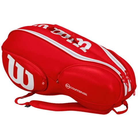 Wilson Tour Player 9 pack Bag Red/White (WRZ840709)