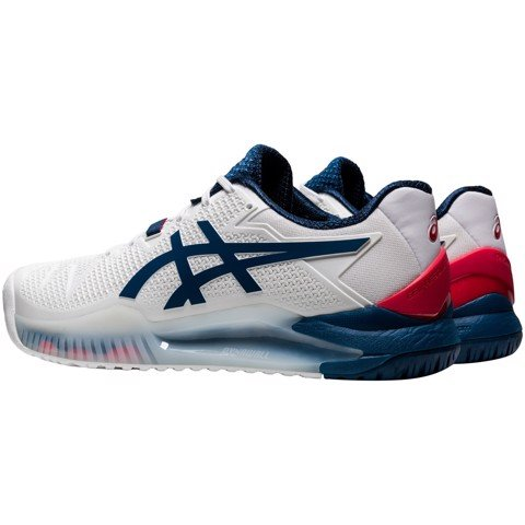 Giày Tennis Asics GEL RESOLUTION 8 White/Marko Blue (1041A079-103)