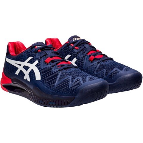 Giày Tennis GEL RESOLUTION 8 Navy/Red (1041A079-400)