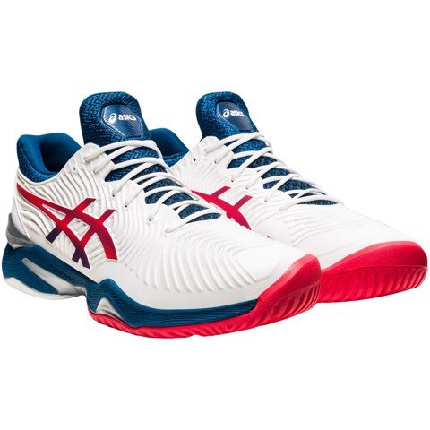 Giày Tennis Asics COURT FF 2 White/Mako Blue (1041A083-102)