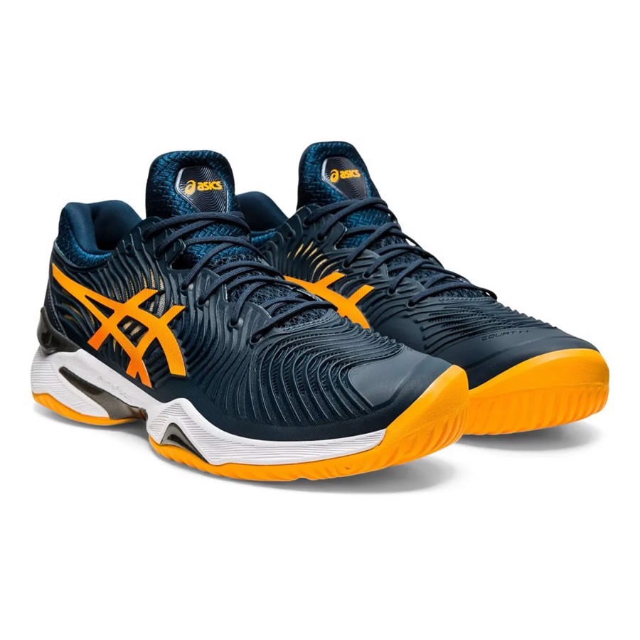 Giày Tennis Asics Court FF 2 - Blue/Orange (1041A083-402)