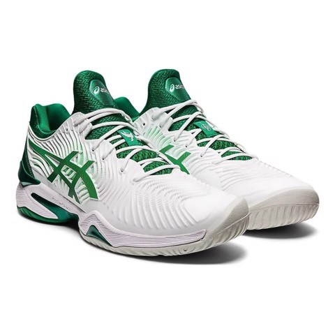Giày Tennis Asics 2021 Court FF Novak - White/Green (1041A089-104)