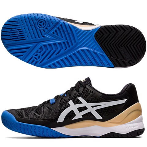 Giày Tennis Asics GEL RESOLUTION 8 WIDE Black/White (1041A113-001)
