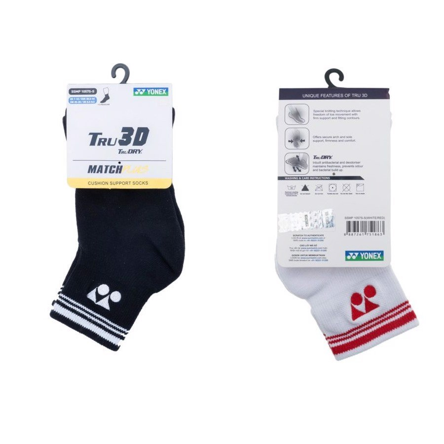 Vớ Tennis YONEX CUSHION Support TruDRY (1057S)