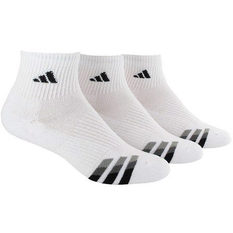 Adidas Cushioned 3 Pack Quarter Tennis Socks (5135939)