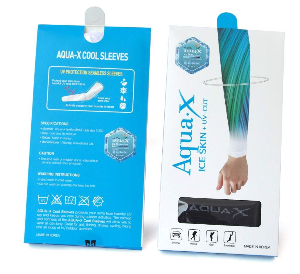 AQUA.X UV CUT ARM SLEEVE - ỐNG TAY Che nắng Made in Korea (ARMSL)