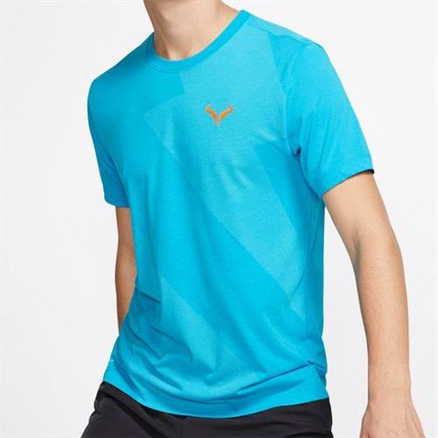 Áo Tennis Nike Court Rafa Tee - Light Blue Fury (AR5713-433)
