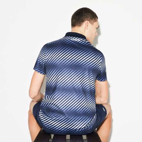 Áo Tennis Lacoste SPORT Zip Neck Shaded Stripes (DH3442-6KY)