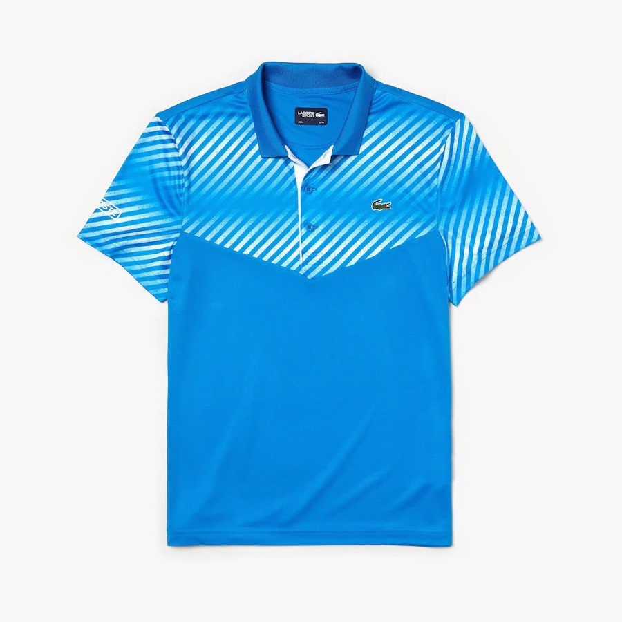 Áo Tennis Lacoste SPORT Shaded Stripes Technical Piqué (DH3458-6LT)