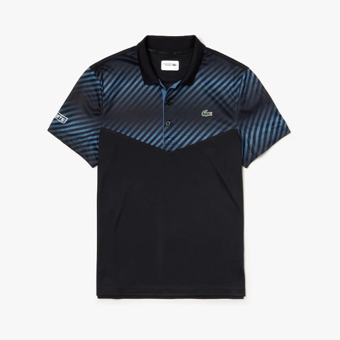 Áo Tennis Lacoste SPORT Shaded Stripes Technical Piqué (DH3458-9YP)