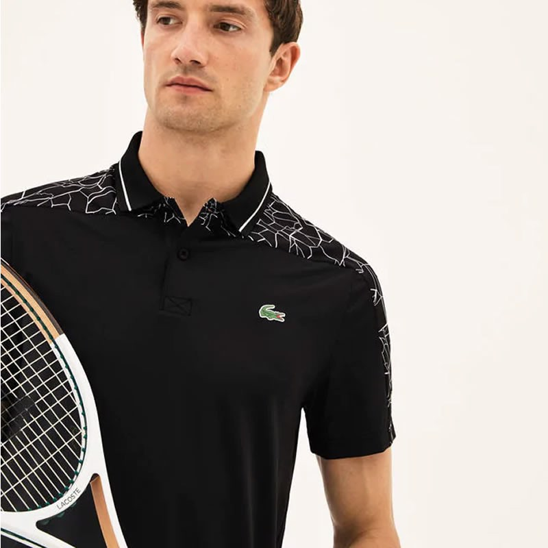Áo Tennis Lacoste NOVAK DJOKOVIC Tennis Polo NetPrint (DH9481-258)