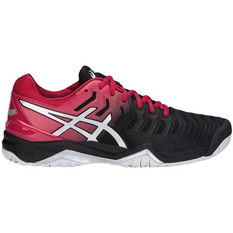 Giày Tennis Asics Gel Resolution 7 Black/Red (E701Y-001)