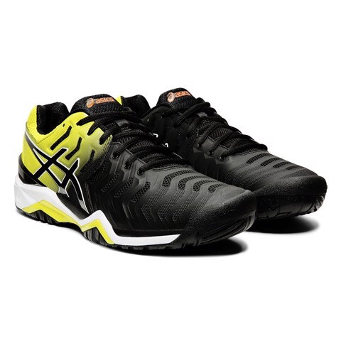 Giày Tennis Asics GEL RESOLUTION 7 Black/Yellow (E701Y-003)
