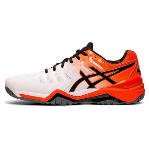 Giày Tennis Asics GEL RESOLUTION 7 White/Koi (E701Y-100)