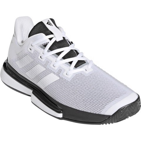 Giày Tennis Adidas SOLEMATCH Bounce White/Black (G26602)