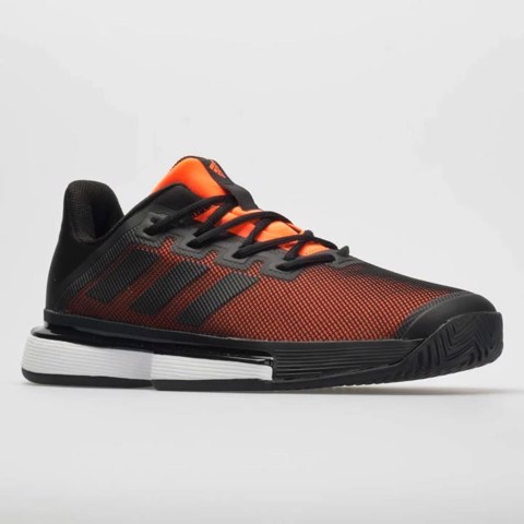 Giày Tennis Adidas SOLEMATCH Bounce Black/Orange (G26605)