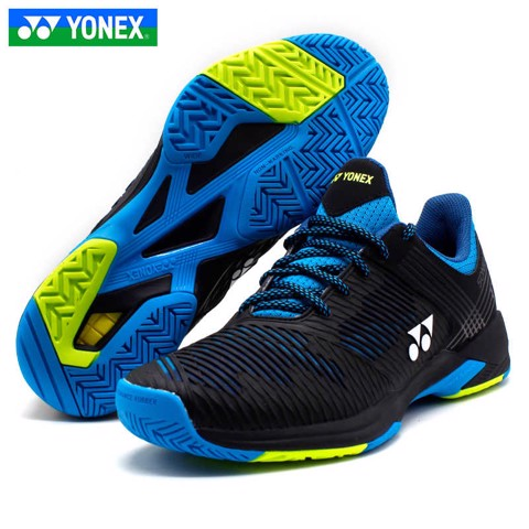 Giày Tennis Yonex Power Cushion SONIC CAGE 2 WIDE BLack/Blue (SHTS2WEX)