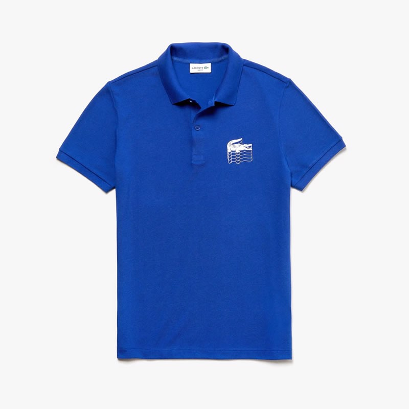 Áo Lacoste Slim Fit 3D Croc Cotton Petit Piqué 2019 (PH6402-X0U)