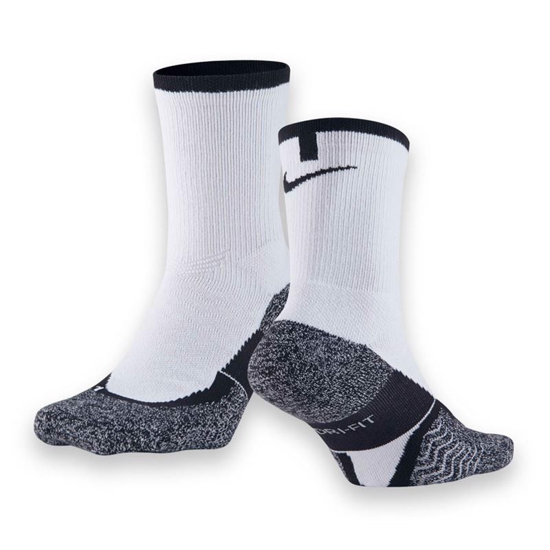 NIKE ELITE CREW SOCK Medium - WHITE/BLACK (SX4935-110)