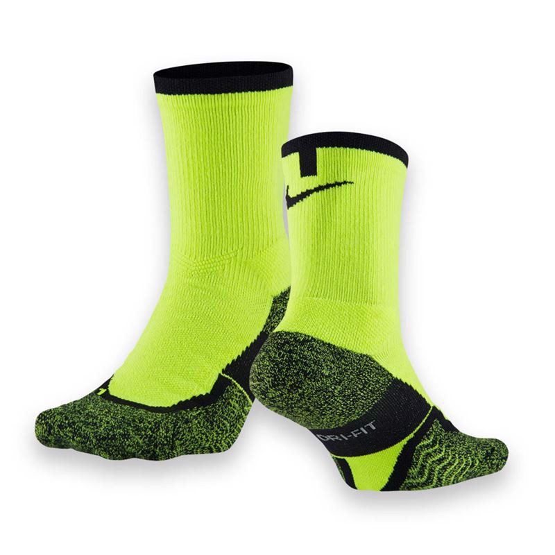 NIKE ELITE CREW SOCK - VOLT/BLACK (SX4935-710)