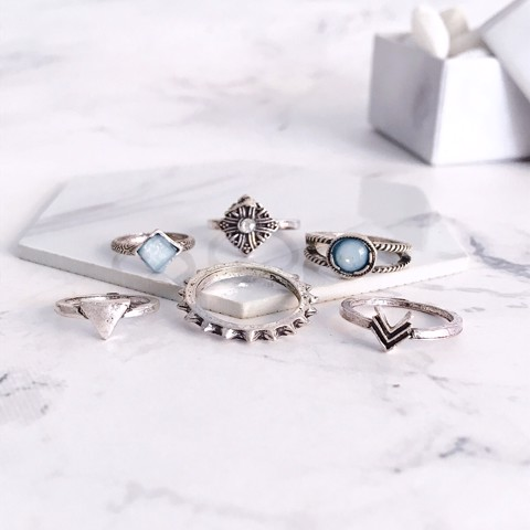 Set 6 Nhẫn Midi Ring Boho Arrow TATIANA NH2379