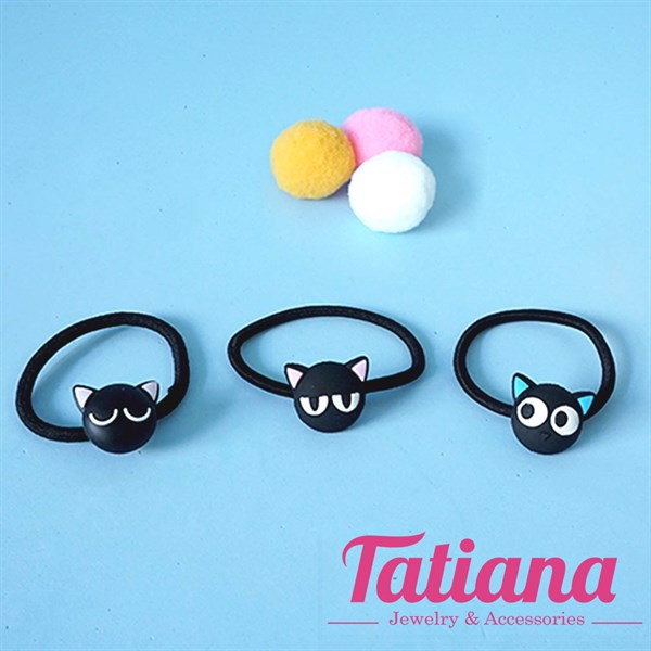 Set 3 Cột Tóc Black Cat Tatiana CT016